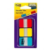 INDICE POST-IT RIGIDOS 25,4X43,1 ROJO,AMARILLO,AZUL