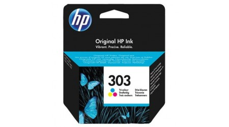 CARTUCHO H.P. Nº 303 COLOR T6N01AE PARA HP ENVY PHOTO 6230,7130,7134,7830 - 165  PAG HEWLET PACKARD