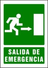 SEÑAL PVC A4 SALIDA DE EMERGENCIA FLECHA DERECHA