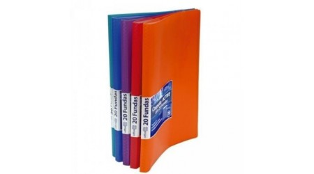 CARPETA PORTAFUNDAS OFFICE BOX ACTIVE SUPRA 20 FUNDAS COLORES SURTIDOS
