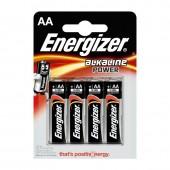 PILAS ENERGIZER ALKALINE POWER AA LR6   4 UNIDADES