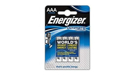 PILAS ALCALINAS ENERGIZER ULTIMATE LITHIUM AAA 4 UDS