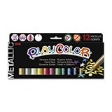 TEMPERA  SOLIDA ESCOLAR PLAYCOLOR ONE INSTANT 12 COLORES METALICOS