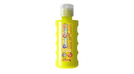 TEMPERA ESCOLAR LIQUIDA PLAYCOLOR FLUOR AMARILLO 250ML