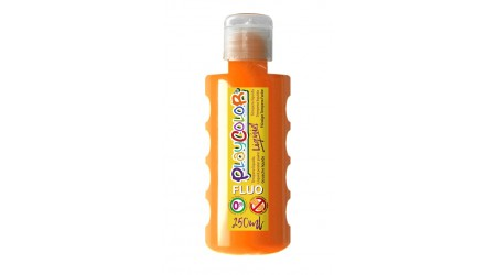 TEMPERA ESCOLAR LIQUIDA PLAYCOLOR FLUOR NARANJA 250ML