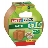 PRECINTO TESA 50M X  50MM PAPEL ECOLOGO MARRON - 60% MATERIALES DE ORIGEN BIOLOGICO - MANDRIL 100% CARTON RECICLADO