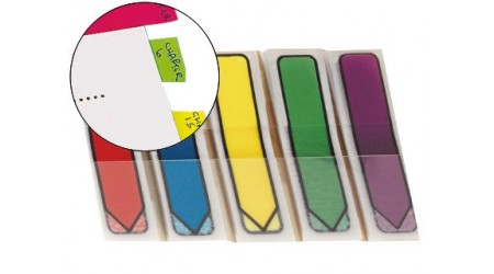 BANDERITAS SEPARADORAS FLECHA DISPENSADOR COLORES BRILLANTES POST-IT INDEX 100 UDS