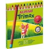 LAPICES COLORES ALPINO TRIMAX TRIANGULARES CAJA DE 12 COLORES