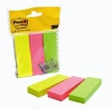 MARCAPAGINAS POST-IT 671-3 PACK 3 BLOCS 100 H. 25X76 NEON ROSA,  VERDE Y AMARILLO