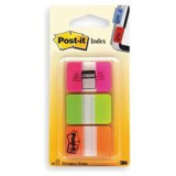 INDICE POST-IT RIGIDOS 25,4X43,1 ROSA,VERDE,NARANJA
