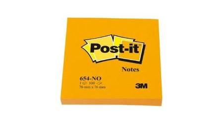 Bloc de notas Post-it 654 NP 1 unidad 76 x 76 mm color rosa ne/ón