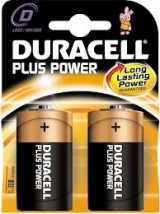 "PILAS DURACELL PLUS POWER ALCALINAS ""D"" LR20  2 UNIDADES"