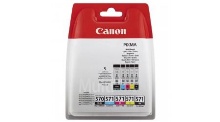 CARTUCHO CANON PGI-570 + 4 COLORES CLI-571 MG5750/MG6850/MG7750 ORIGINAL