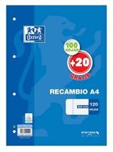 RECAMBIO OXFORD A4 120 H. 90 GR. CUADRICULA 4X4
