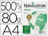 PAPEL A4 NAVIGATOR UNIVERSAL 80G. 500H. FSC, EU ECOLABEL, ISO