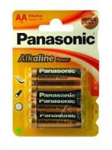 PILAS PANASONIC ALCALINA AA LR6  4 UNIDADES *