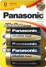 PILAS PANASONIC ALCALINA D LR20  2 UNIDADES *