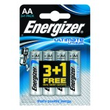 PILAS ALCALINAS ENERGIZER ULTIMATE LITHIUM AA 3+1 UDS