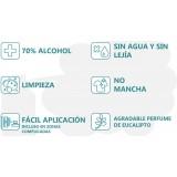 DESINFECTANTE CON ALCOHOL 70% HIGIENIZANTE EN AEROSOL 500 ML.