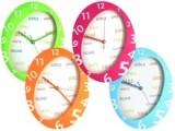 RELOJ DE PARED OVAL TIME 22,5x28,5x4 CM. ROSA - ULTIMA UNIDAD