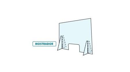 MAMPARA DE PROTECCION MOSTRADOR DE METACRILATO 100 x 50 CM
