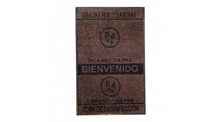 ALFOMBRILLA SUELO FELPUDO HIGIENICO LAVABLE 70x110 CM.