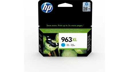 CARTUCHO H.P. Nº 963XL CYAN 3JA27AE  - 1600 PAG ORIGINAL PARA OFFICEJET PRO ALL IN ONE 9010SERIES ,9020 SERIE