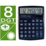 CALCULADORA CITIZEN CDC-80 AZUL METAL 8 DIGITOS 135 x 109 x 23,3