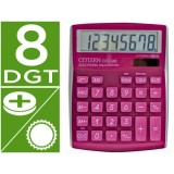 CALCULADORA CITIZEN CDC-80 ROSA BRILLANTE 8 DIGITOS 135 x 109 x