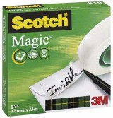CINTA ADHESIVA INVISIBLE SCOTCH MAGIC 810-33MX12MM