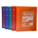 CARPETA & BLOCK 4 ANILLAS 150H CON SEPARADORES OFFICE BOX COLORE