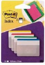 INDICE POST-IT RIGIDO PLANOS 50,8X38,1 VERDE AZUL AMARILLO Y ROJ
