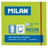 NOTAS ADHESIVAS MILAN 76X76 NEON VERDE 100 HOJAS