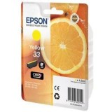 CARTUCHO EPSON AMARILLO C13T33444012 PARA EPSON EXPRESSION PREMIUM XP-530/630 SERIES - 300 PAG / 4,5 ML ORIGINAL