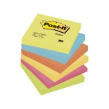 NOTAS ADHESIVAS POST-IT 654 ENERGIA 76x76 MM 6 UNID. 100 HOJAS