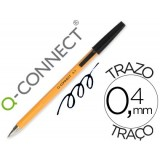 BOLIGRAFO Q-CONNECT PUNTA FINA TIPO BIC NARANJA
