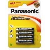 PILAS PANASONIC ALCALINA AAA LR03  4 UNIDADES *