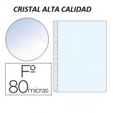 FUNDA MULTITALADRO FOLIO CRISTAL 80MC 100 U. CON REFUERZO 46106