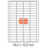 ETIQUETAS A4 100H. INETA  48,5x 16,9  6800U. 01282 RECTA