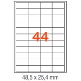 ETIQUETAS A4 100H. INETA  48,5x 25,4  4400U. 01285 RECTA
