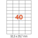ETIQUETAS A4 100H. INETA  52,5x 29,7  4000U. 01286 RECTA