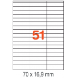 ETIQUETAS A4 100H. INETA  70X 16,9  5100U. 01294 RECTA