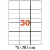 ETIQUETAS A4 100H. INETA  70X 29,7  3000U. RECTA