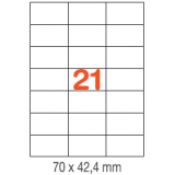 ETIQUETAS A4 100H. INETA  70X 42.4 MM  2100U. 01276 RECTA