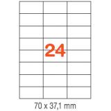 ETIQUETAS A4 100H. INETA  70X 37,1  2400U. 01273 RECTA