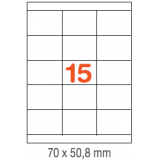 ETIQUETAS A4 100H. INETA  70X 50,8  1500U. 01295 RECTA