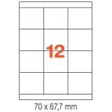 ETIQUETAS A4 100H. INETA  70X 67,7  1200U. 01295 RECTA
