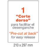 ETIQUETAS A4 100H. INETA 210x297  100U. 01281 RECTA