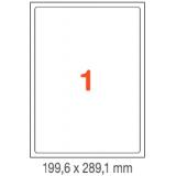 ETIQUETAS A4 100H. INETA 199,6X289,1  100U. 02412 CANTOS ROMOS