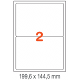 ETIQUETAS A4 100H. INETA 199,6X144,5  200U. 02423 CANTOS ROMOS